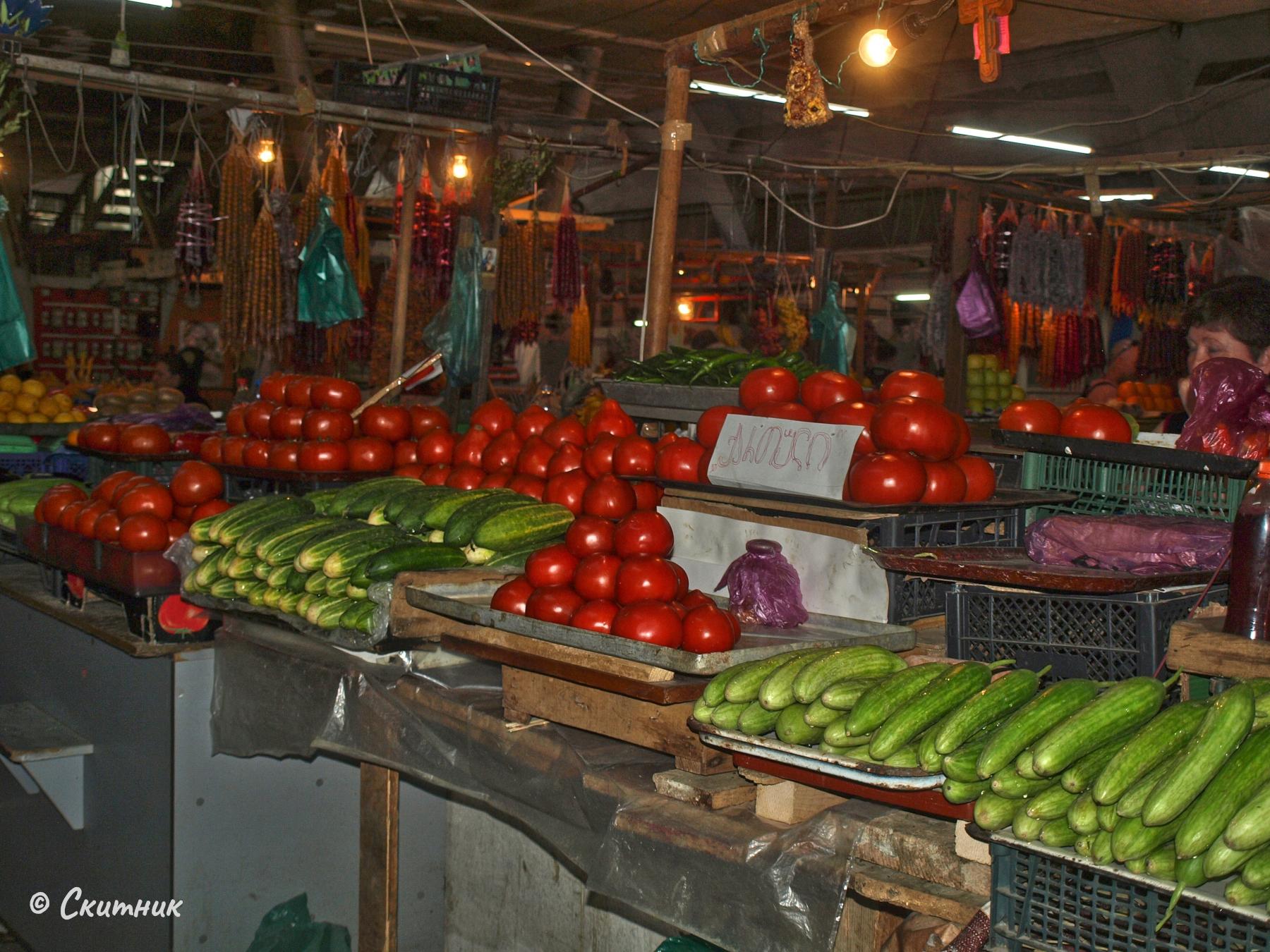 Зеленчуци на пазара на Кутаиси