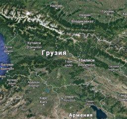 Карта Грузия