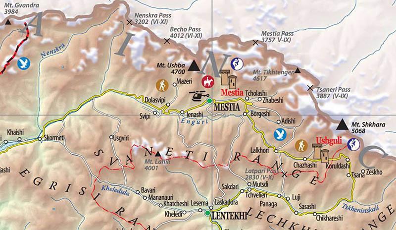 Карта на Сванети