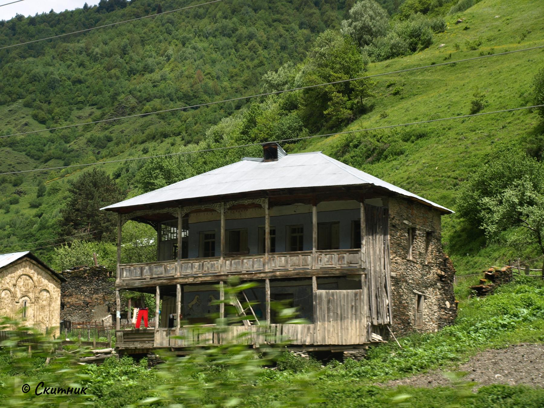 къща в Сванети