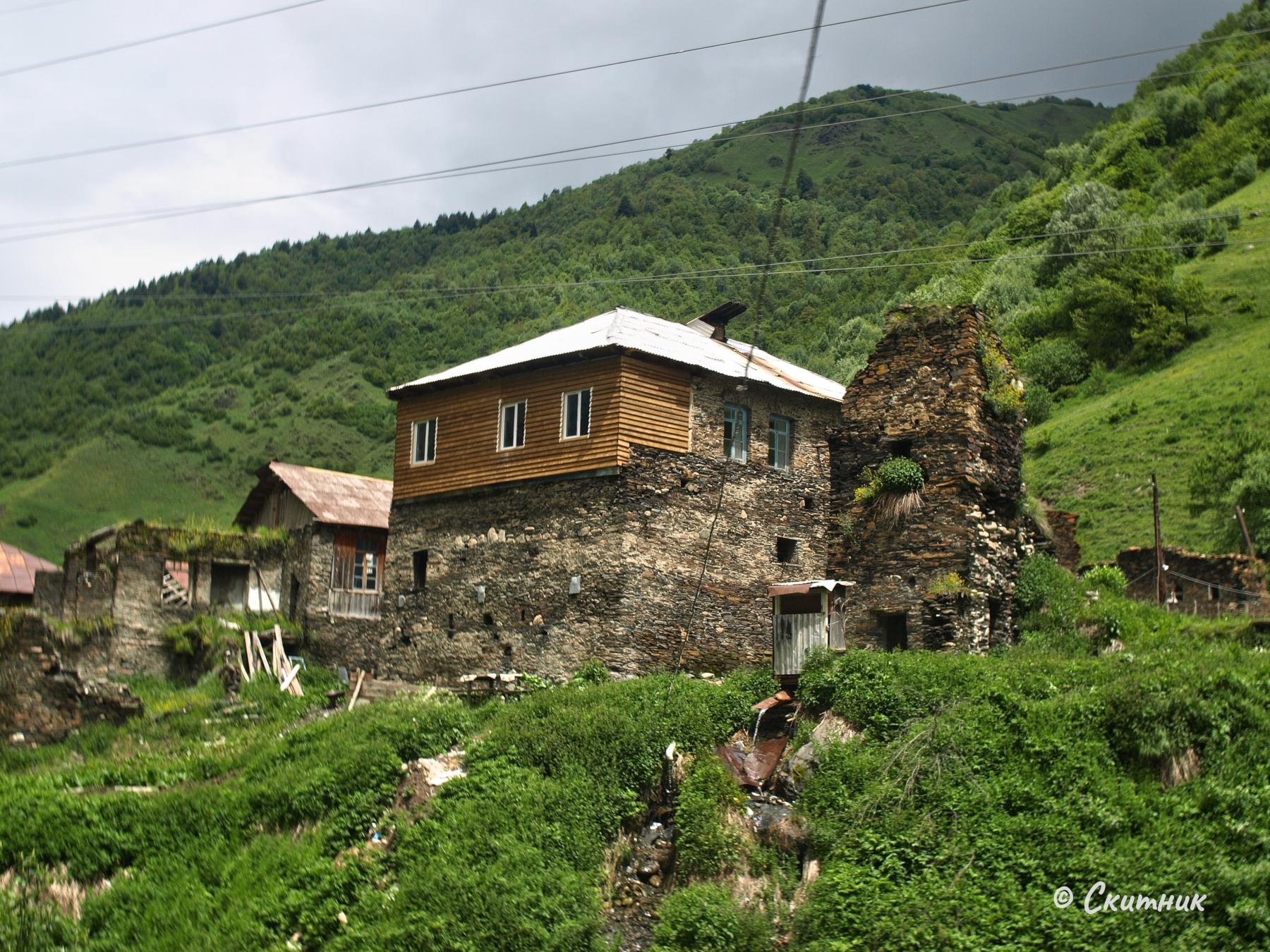 стари къщи в Сванети