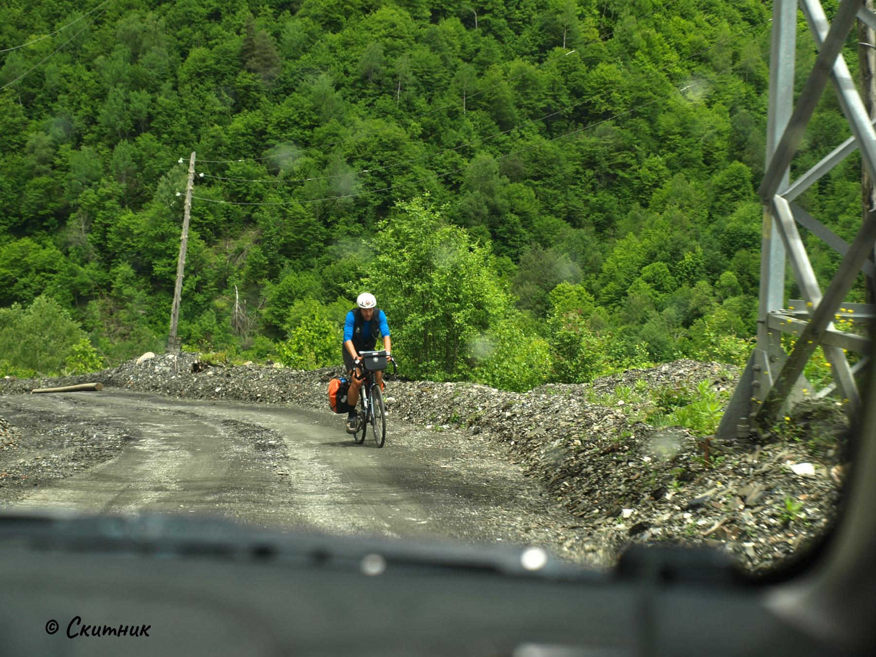 колоездач в Сванети